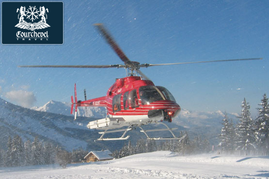 Single Helicopter Bell 407 Courchevel