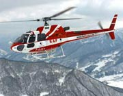 Helicopters in Courchevel