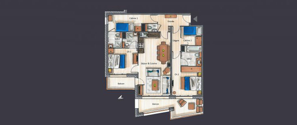 Apartment CT-0426