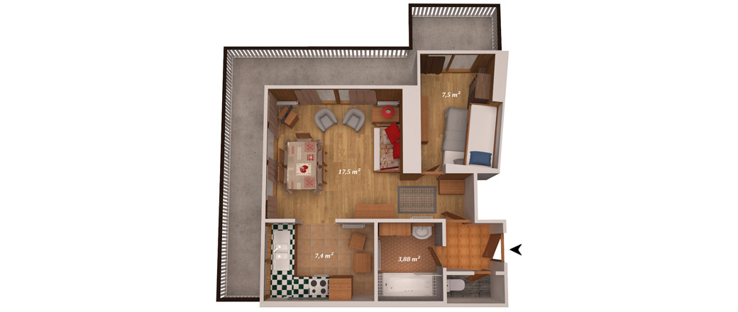 Apartment CT-0464
