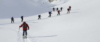 TOURING SKIS IN COURCHEVEL