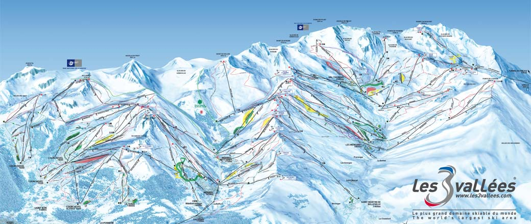 Ski Map Courchevel & The 3 Valleys