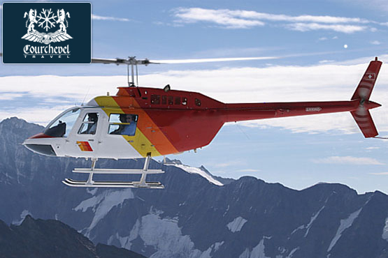 Single Helicopter Bell 206 Courchevel