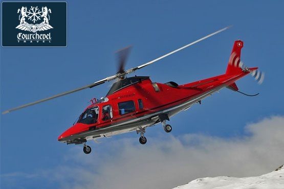 Twin Helicopter Agusta 109  Courchevel