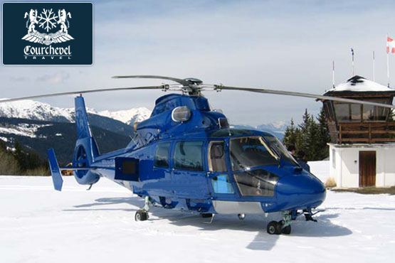 Twin Helicopter AS365 Squirrel Courchevel